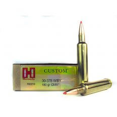 Hornady Custom .30-378 Weatherby Magnum 180 Gr. GMX Boat Tail- Lead-Free- 82210