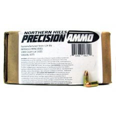 Northern Hills Precision 9mm Luger 124 Gr. Full Metal Jacket- Remanufactured- 99614