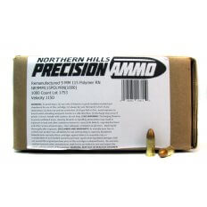 Northern Hills Precision 9mm 115 Gr. Polymer Coated Lead Round Nose- Remanufactured- 99811