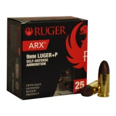 Ruger Self-Defense 9mm Luger 65 Gr. ARX Lead Free Cu/P- 9ARXBRLUG6525