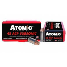 Atomic .45ACP 250 Gr. Bonded Hollow Point- Subsonic-A00439