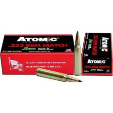 Atomic .223 Remington 77 Gr. Sierra MatchKing Hollow Point Boat Tail- A4591