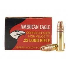 Federal American Eagle High Velocity .22 Long Rifle 38 Gr. Copper Plated Hollow Point- AE22