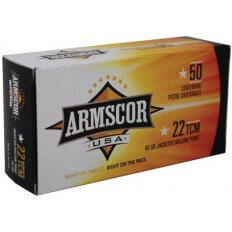 Armscor USA .22 TCM 40 Gr. Jacketed Hollow Point- FAC22TCM-1N