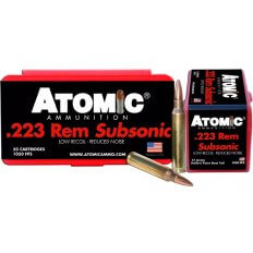 Atomic .223 Remington 77 Gr. Hollow Point Boat Tail Subsonic- ATOMIC-429