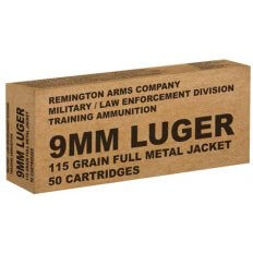 Remington Military/Law Enforcement Division 9mm Luger 115 Gr. Full Metal Jacket- B9MM3