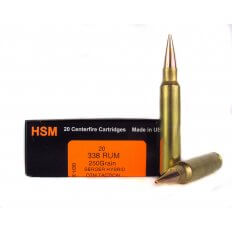 HSM Trophy Gold .338 Remington Ultra Magnum 250 Gr. Berger Hybrid OTM Tactical- BER-338RUM250OTM