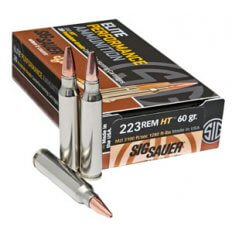 SIG SAUER Elite Performance Hunting .223 Remington 60 Gr. HT Solid Copper- Lead-Free- E223H1