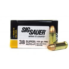 SIG SAUER Elite Performance .38 Super +P 125 Gr. Full Metal Jacket-