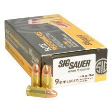 SIG SAUER Elite Performance 9mm Luger 124 Gr. Full Metal Jacket- E9MMB2