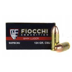 Fiocchi Shooting Dynamics 9mm Luger 124 Gr. Complete Metal Jacket- 9APBCMJ