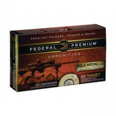 Federal Premium Gold Medal 6.5 Creedmoor 140 Gr. Sierra MatchKing Hollow Point Boat Tail- GM65CRD1