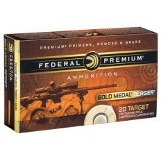 Federal Premium Gold Medal 6.5 Creedmoor 130 Gr. Berger Hybrid Open Tip Match- GM65CRDBH130