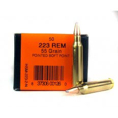 HSM .223 Remington 55 Gr. Pointed Soft Point- HSM-223-2-N