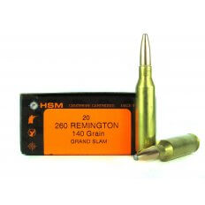 HSM .260 Remington 140 Gr. Speer Grand Slam Soft Point- HSM-260-2-N