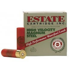 "Estate 20 Gauge 2-3/4"" 3/4 oz #4 Steel Shot- Box of 25"