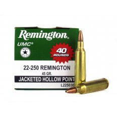 Remington UMC .22-250 Remington 45 Gr. Jacketed Hollow Point- L22503B