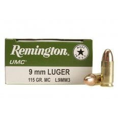 Remington UMC 9mm Luger 115 Gr. FMJ- L9MM3-CASE