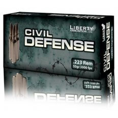 Liberty Civil Defense .223 Remington 55 Gr. Fragmenting Hollow Point- Lead-Free- LA-S-C-223-019