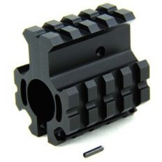 "AR15 High Profile Clamp-on Gas Block .750"" Diameter with Quad Picatinny Rails- Aluminum Black- MAR005-H"
