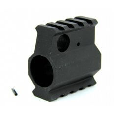 "AR10 High Profile Gas Block .936"" Diameter with Picatinny Top and Bottom Rails- Aluminum Black- MAR007"