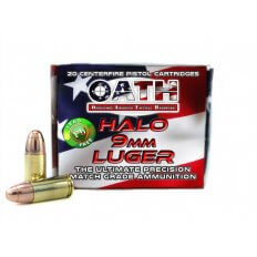 OATH HALO 9mm Luger 135 Gr. Copper Solid Lead-Free Match- AH9MM