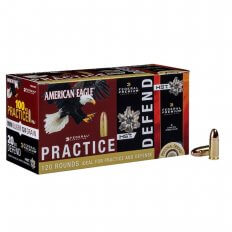 Federal American Eagle 9mm 124 Gr. Combo Pack FMJ/ JHP- Box of 100 FMJ/ 20 JHP