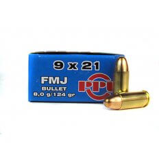 Prvi Partizan 9x21mm IMI 124 Gr. Full Metal Jacket- PP-R9.92
