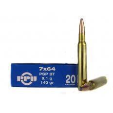 Prvi Partizan 7x64mm Brenneke 140 Gr. Pointed Soft Point Boat Tail- PP7.67