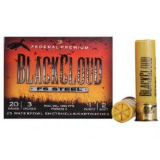 "Federal Premium Black Cloud Ammunition 20 Gauge 3"" 1 oz #2 Non-Toxic FlightStopper Steel Shot- PWBX209-2"