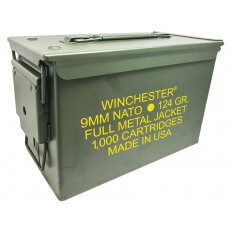 Winchester NATO 9mm Luger 124 Grain Full Metal Jacket Ammo- Can of 1000