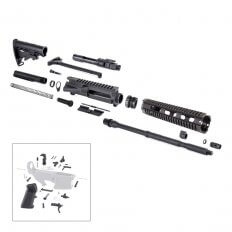 "AR15 Complete Rifle Kit 5.56x45mm NATO 1 in 7"" Twist 16"" Barrel with M-4 Style Buttstock"