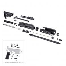 "AR15 Complete Rifle Kit 5.56x45mm NATO 1 in 7"" Twist 16"" Barrel with M-4 Style Buttstock- RIFLEKIT17"