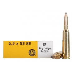 Sellier & Bellot 6.5x55mm SE 140 Gr. Soft Point- SB6555B