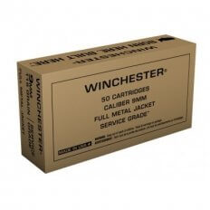 Winchester Military Service Grade 9mm Luger 115 Gr. Full Metal Jacket- SG9W