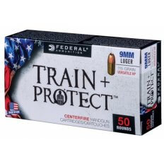 Federal Train & Protect 9mm Luger 115 Gr. Versatile Hollow Point- TP9VHP1