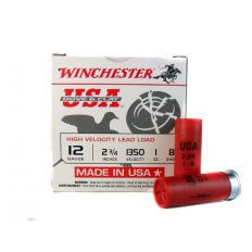"Winchester USA Dove & Clay High Velocity 12 Gauge 2-3/4"" 1 oz #8 Shot- USAL128"