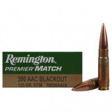 Remington Premier Match .300 AAC Blackout 125 Gr. Open-Tip Match (OTM)- Box of 20