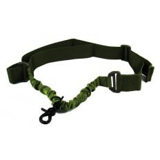 TacFire SINGLE POINT DOUBLE BUNGEE RIFLE SLING/SNAP-ON STEEL CLIP/OD GREEN