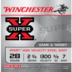 "Winchester Super-X 28 Gauge 2-3/4"" 5/8 oz #7 Shot- Box of 25"