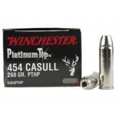Winchester Supreme 454 Casull 260 Gr. Platinum Tip HP- Box of 20