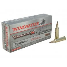 Winchester Varmint X .22-250 Remington 55 Gr. Polymer Tip- Box of 20
