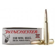 Winchester Super-X .338 Winchester Magnum 200 Gr. Power Point- Box of 20