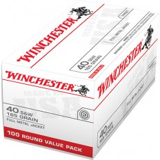 Winchester .40 S&W 165 Gr. Full Metal Jacket- Value Pack of 100