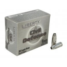 Liberty Civil Defense 9mm Luger +P 50 Gr. Fragmenting Hollow Point- Lead-Free- Box of 20