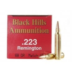 Black Hills .223 Remington 68 Gr. Heavy Match Hollow Point- Box of 50