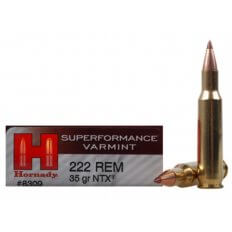 Hornady SUPERFORMANCE Varmint .222 Remington 35 Gr. NTX- Lead-Free- Box of 20