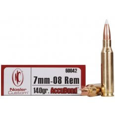 Nosler Trophy Grade 7mm-08 Remington 140 Gr. AccuBond- Box of 20