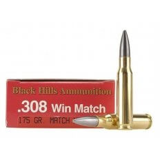 Black Hills .308 Winchester 175 Gr. Match Hollow Point Boat Tail Moly Coated- Box of 20