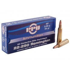 Prvi Partizan .22-250 Remington 55 Gr. Soft Point- Box of 20